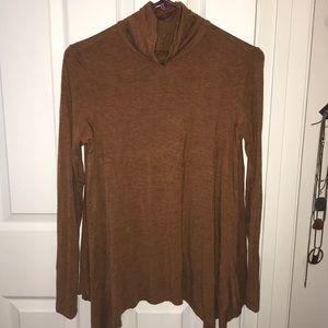 Burnt orange turtle neck sweater